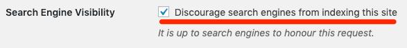 wordpress search engine settings