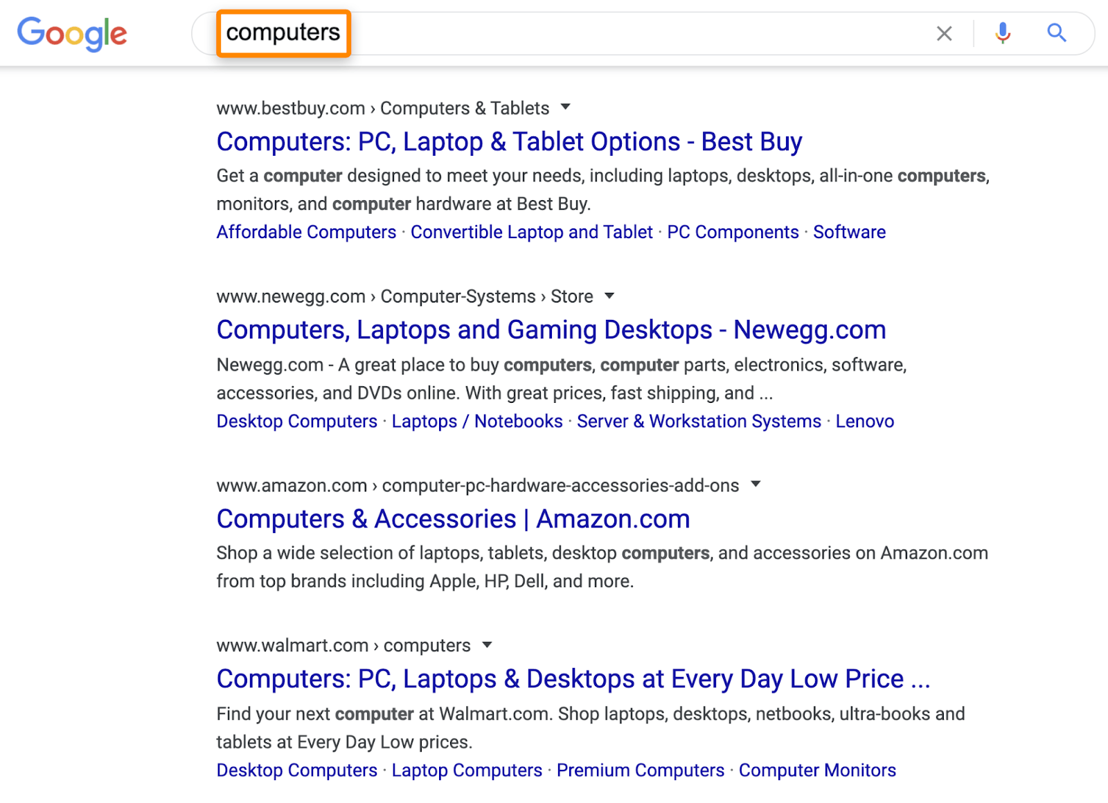 4 search results computers