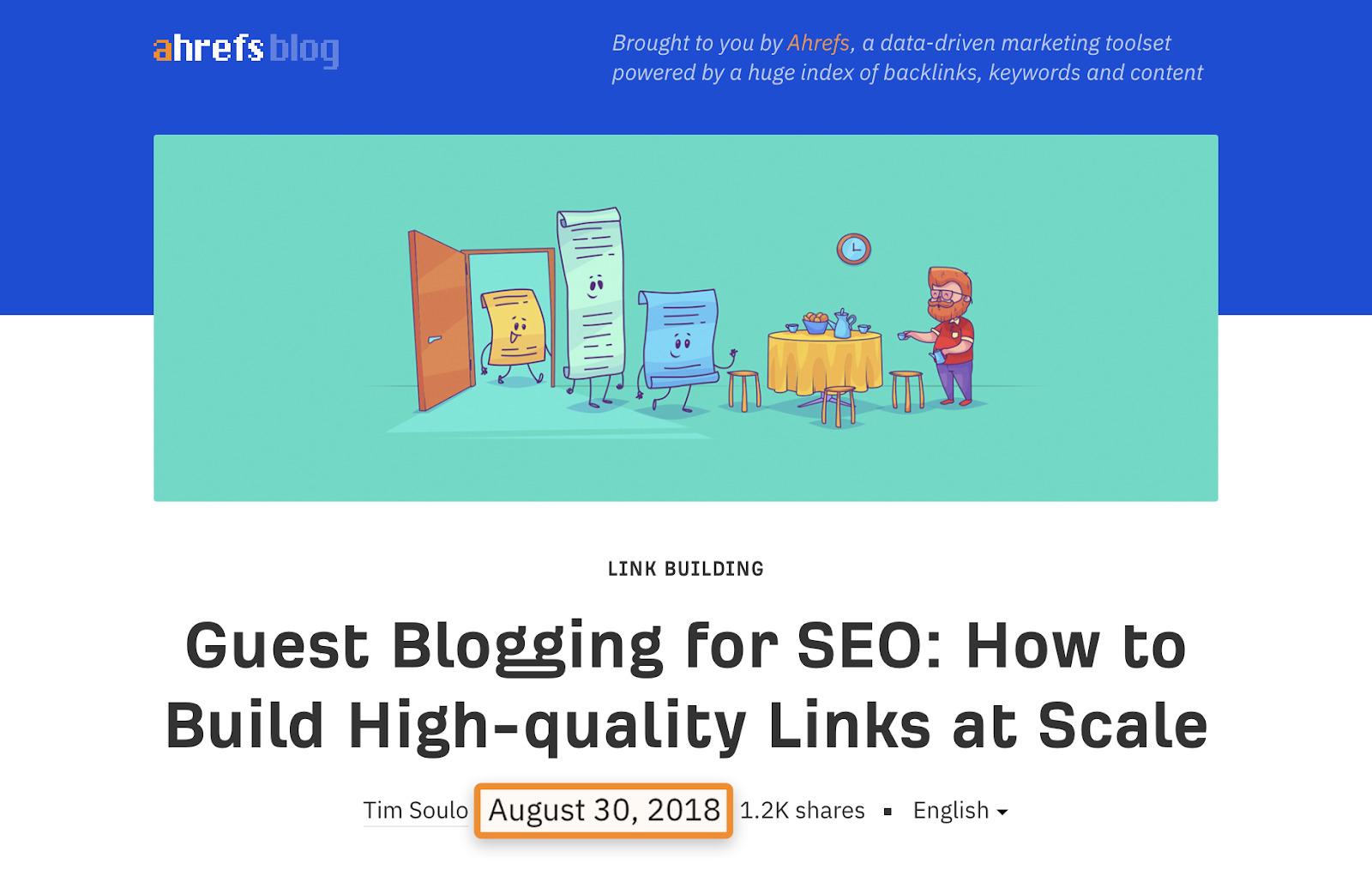 7 guest blogging publish date