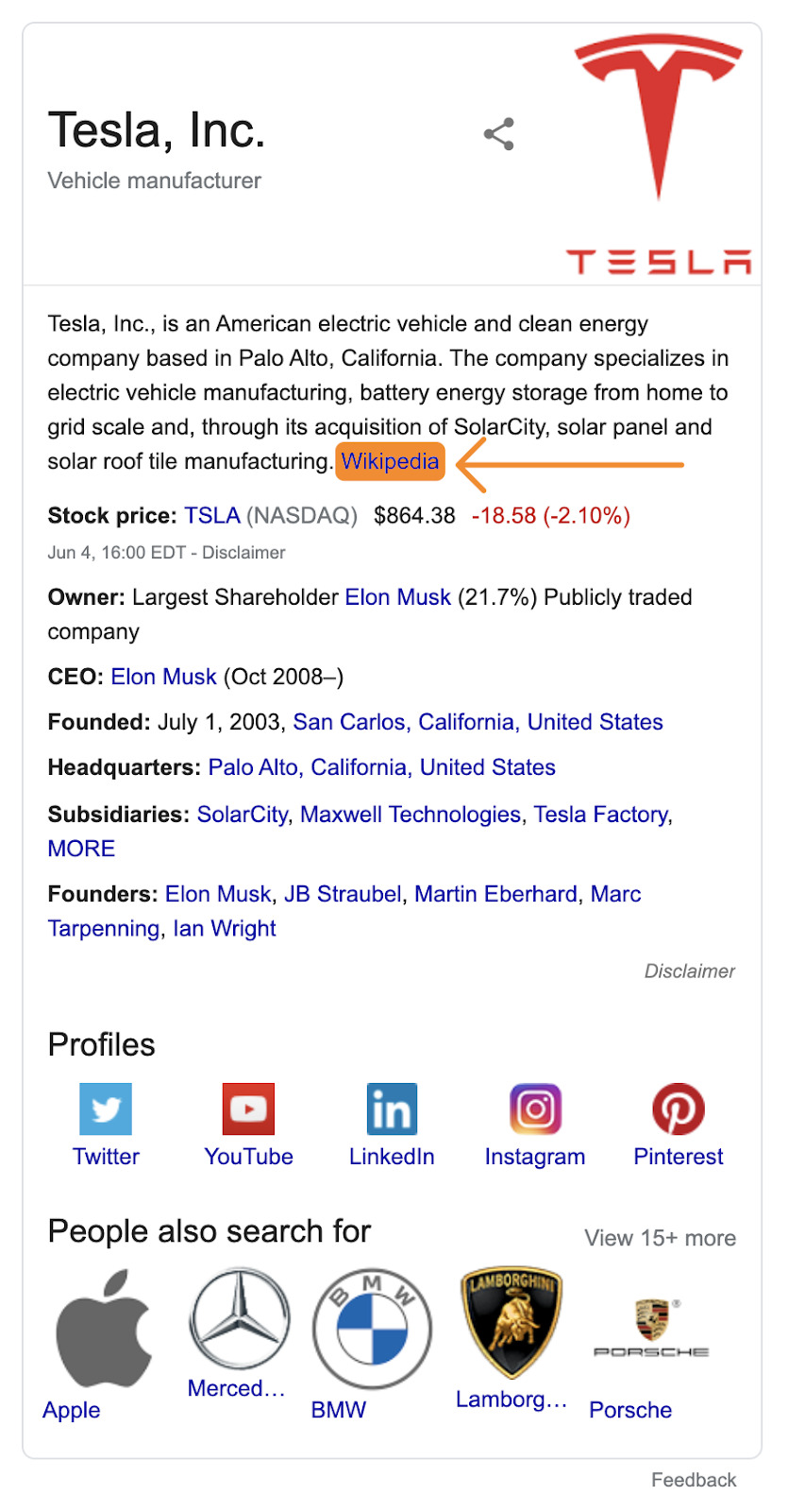 1 tesla knowledge graph