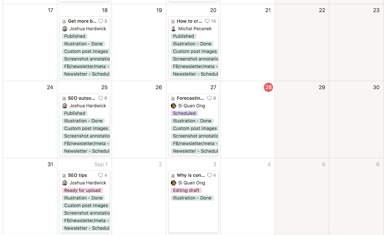content calendar 1