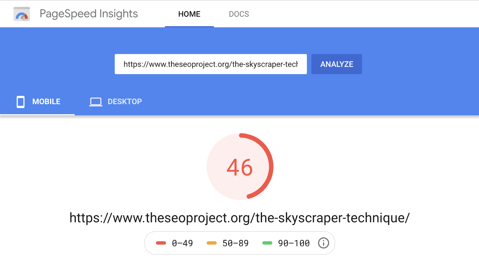 1 pagespeed insights slow
