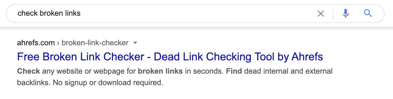 4 check broken links meta description