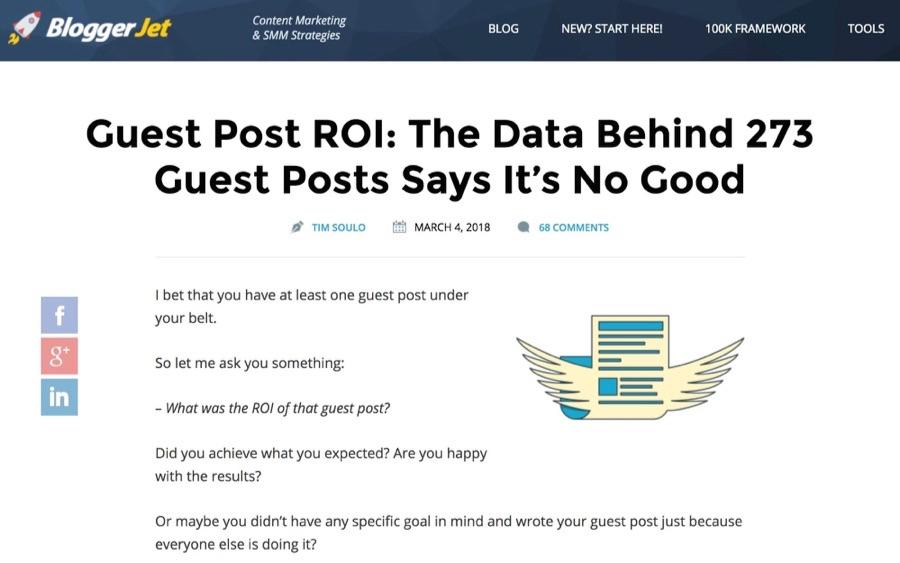bloggerjet guest blogging