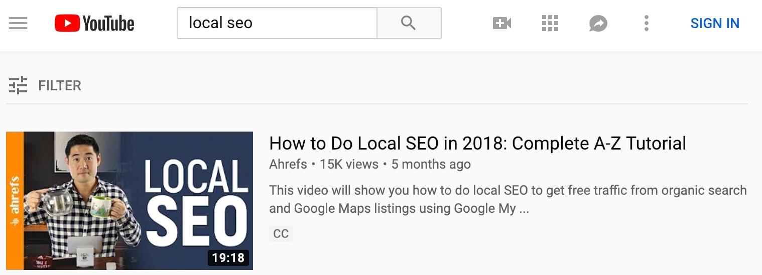 local seo YouTube