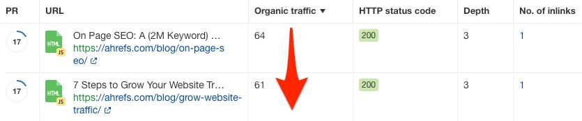 data explorer internal links opps