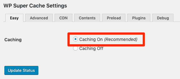 caching on