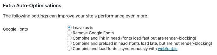 google fonts optimization