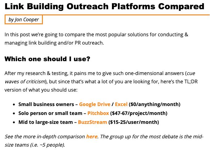 outreach platforms point blank