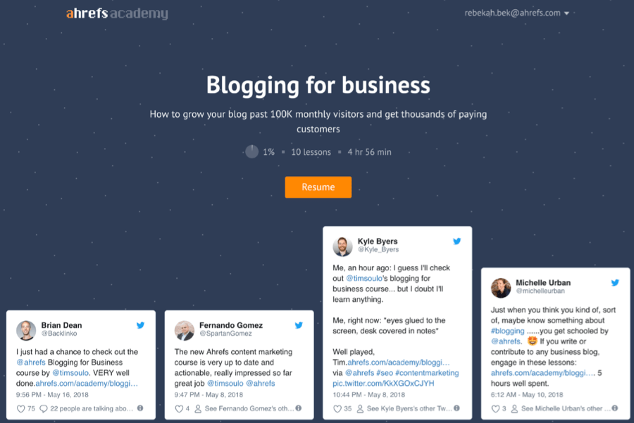 academy bloggingforbusiness