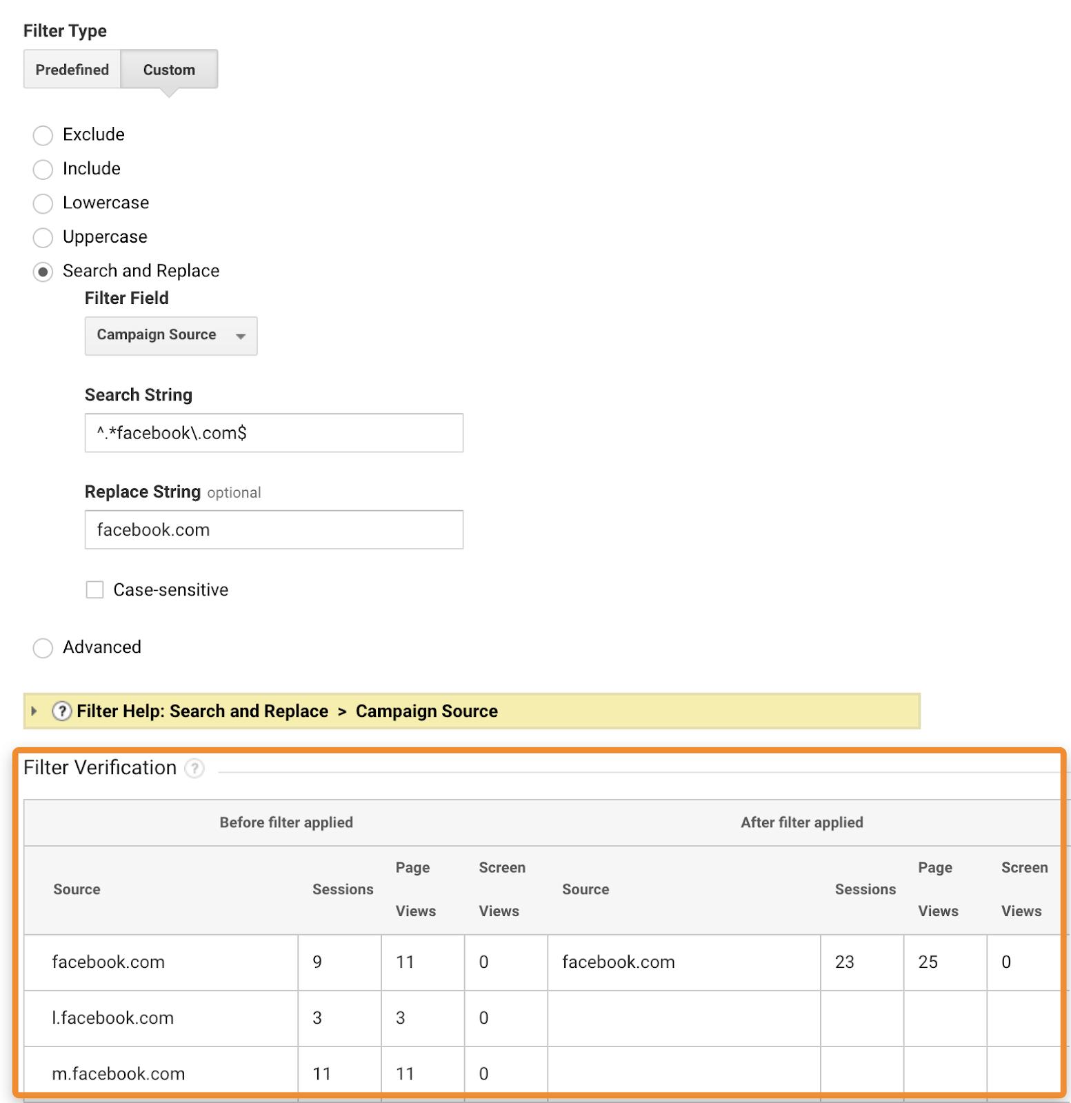 15 filter verification