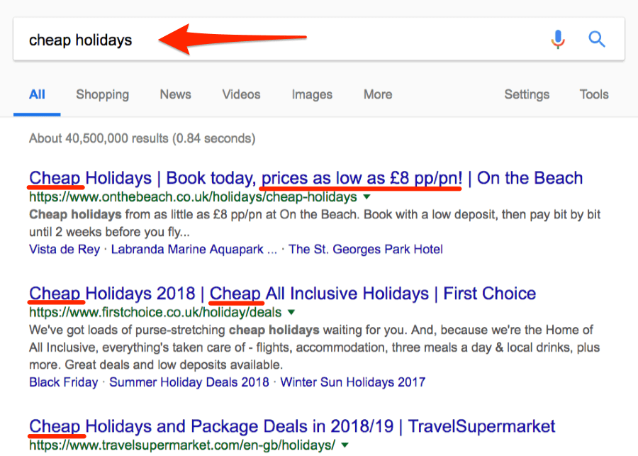 cheap holidays