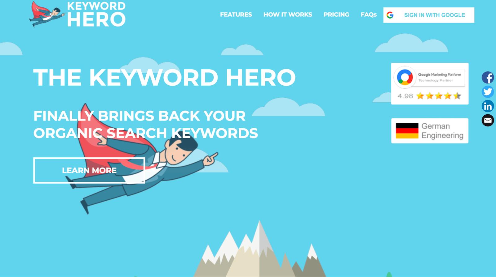 keyword hero