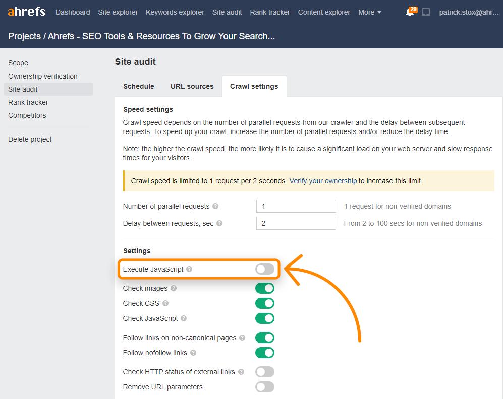 5 site audit javascript