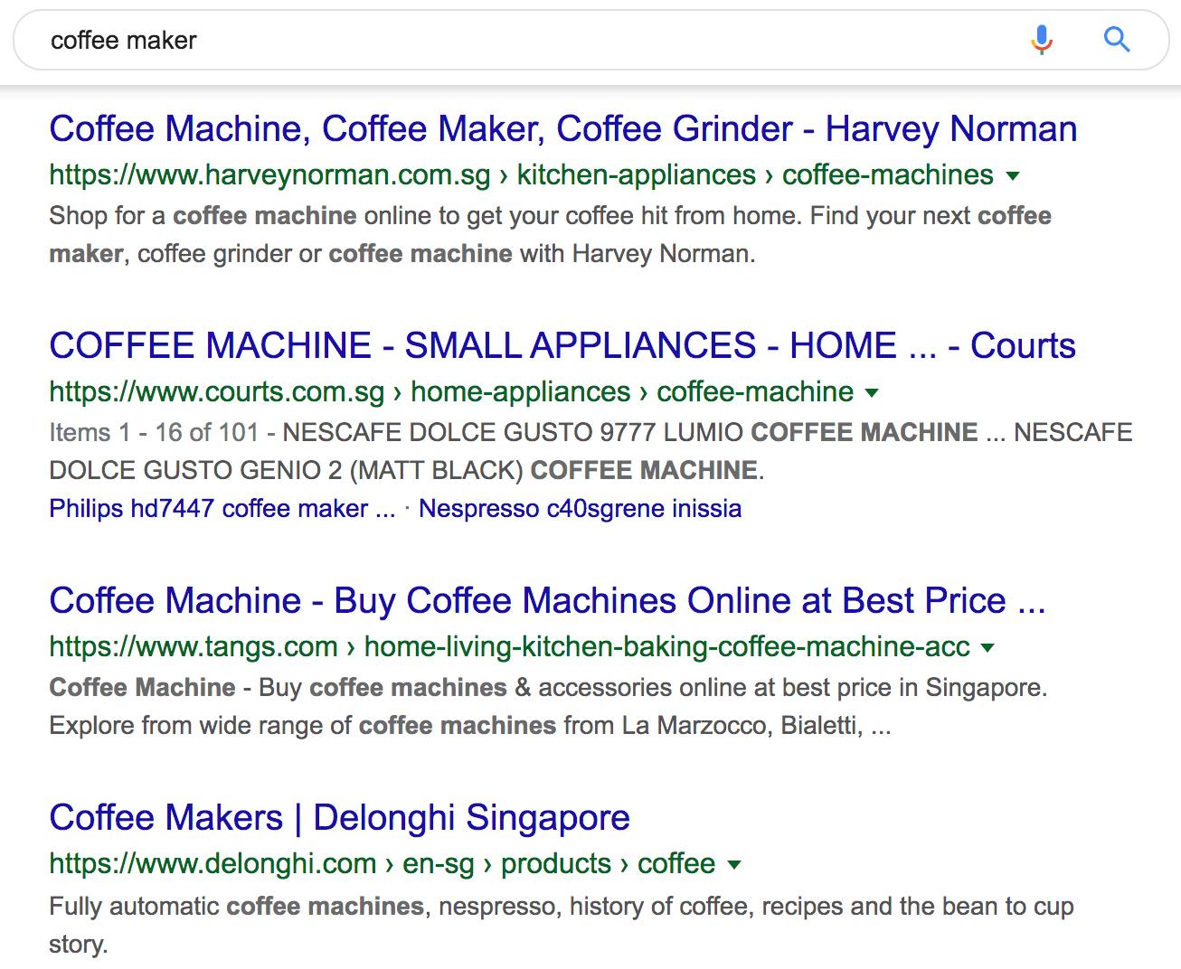coffee maker google search