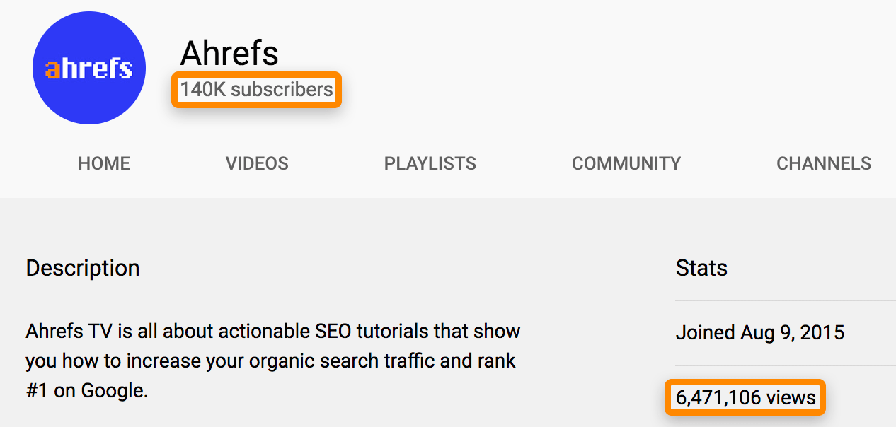 02 youtube channel stats