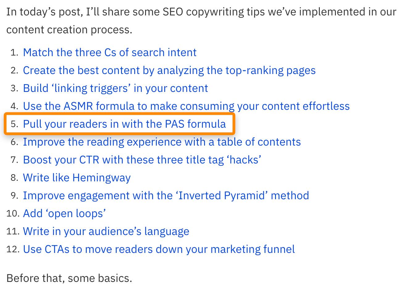 2 toc seo copywriting guide