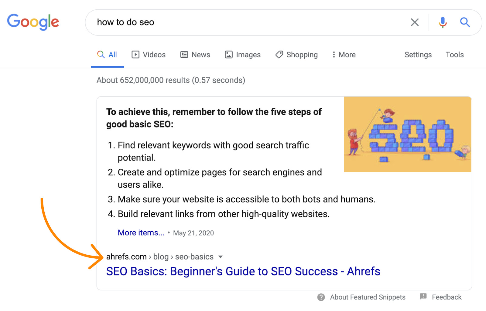 1 how to do seo google search