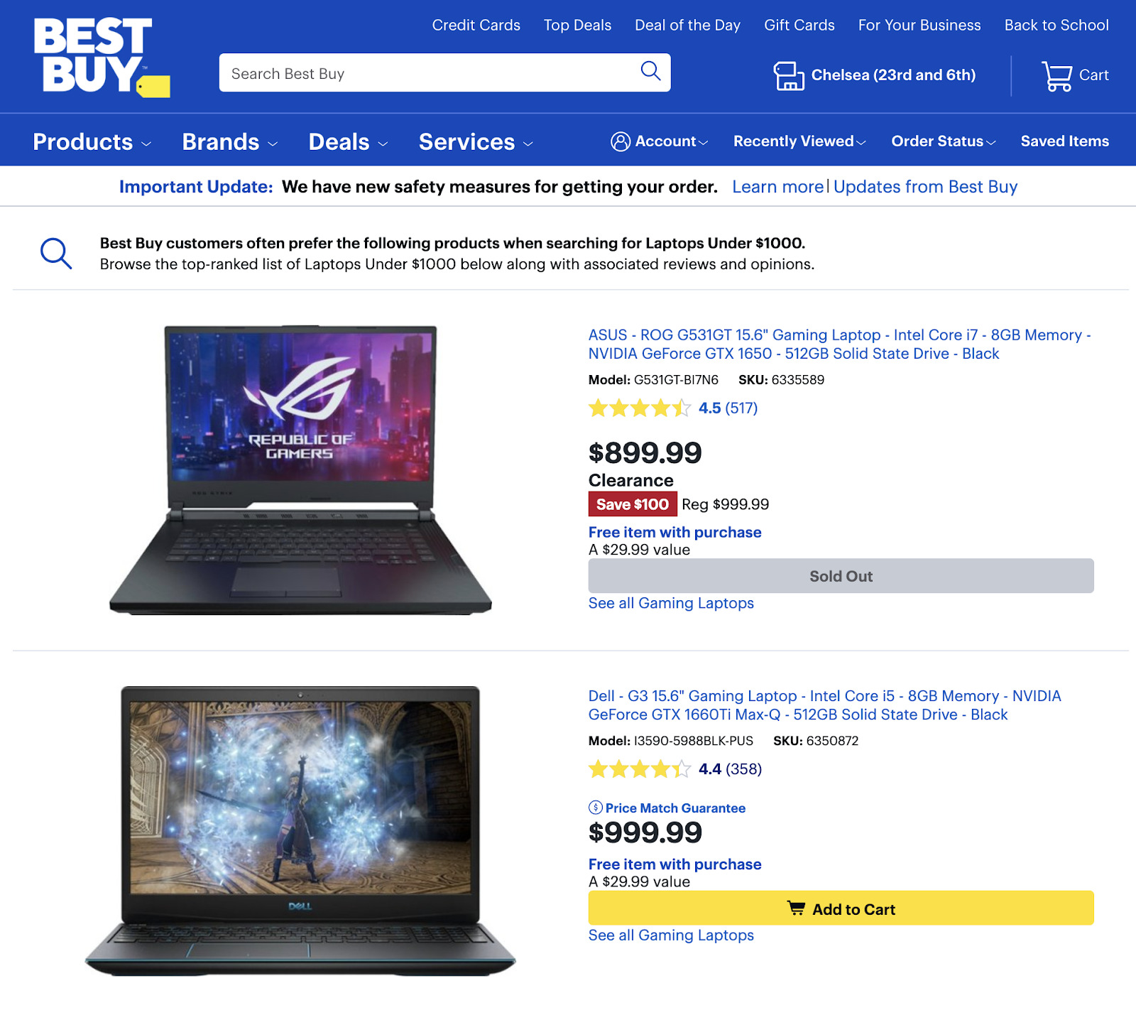34 best buy category page