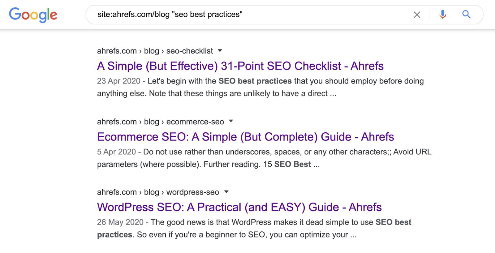5 internal link google search