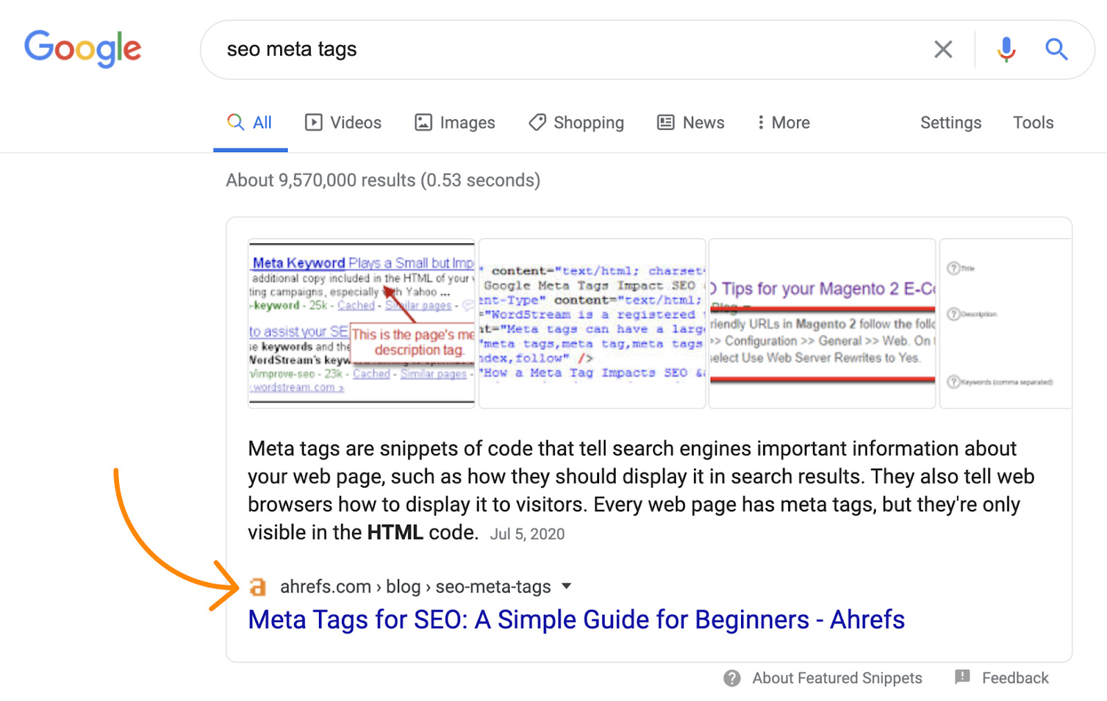 6 featured snippet google