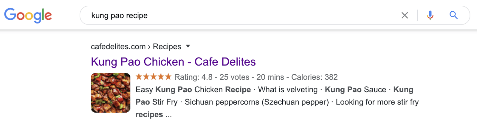 16 kung pao rich snippets