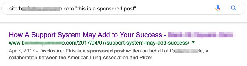 sponsored post google