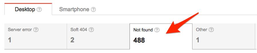 """GSC - ошибки """"страница не найдена"""""""