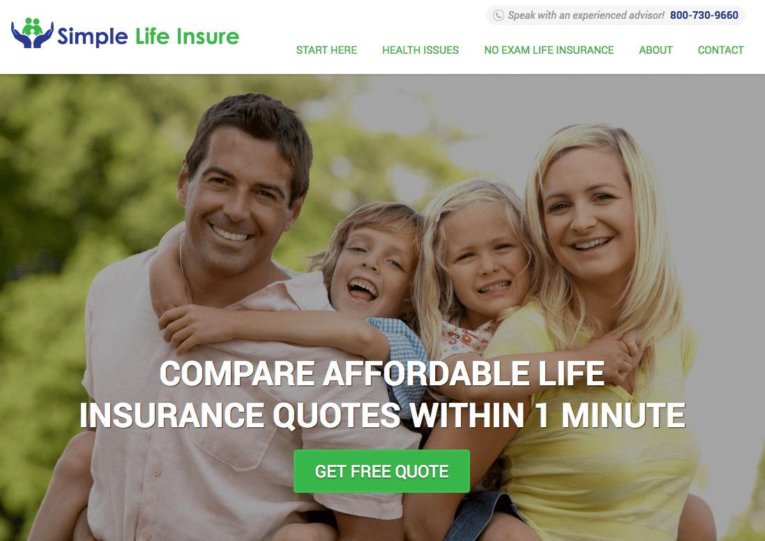 Simple Life Insure - сайт брокера