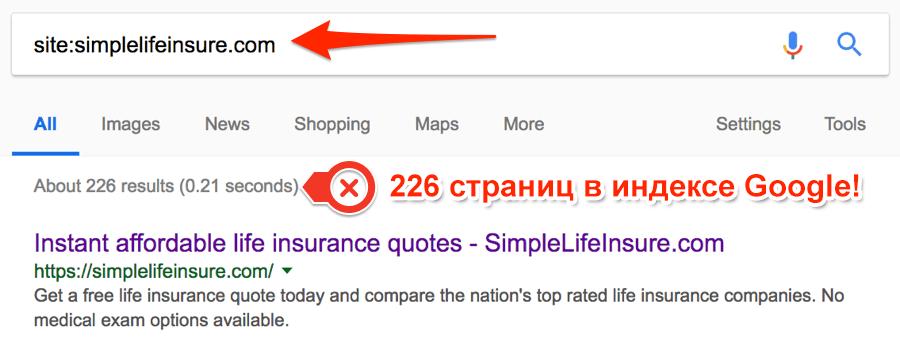Simpe Life Insure - поиск в Гугл