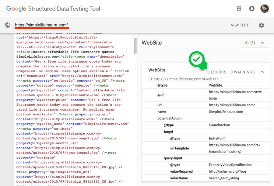 Проверка структурированных данных в Google