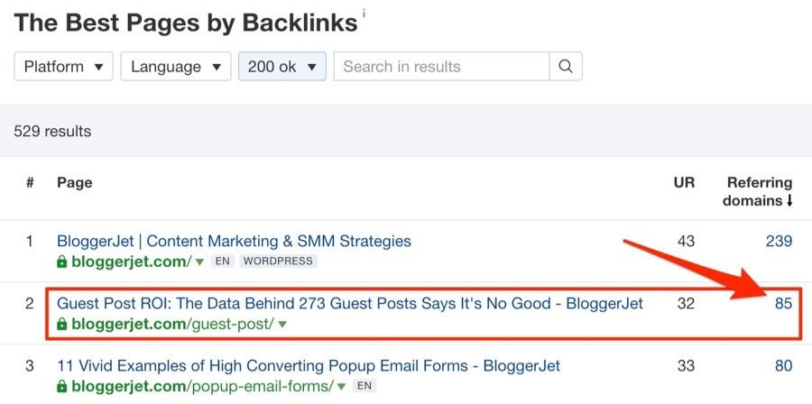 BloggerJet - лучшие страницы