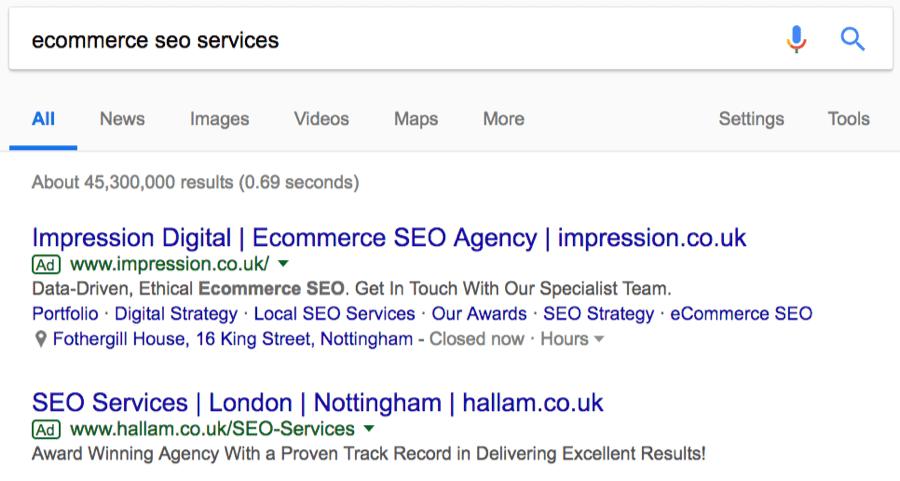 SEO услуги для онлайн-магазинов - поиск