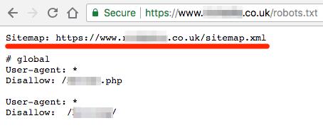 sitemap URL