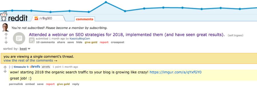 Комментарий на Reddit
