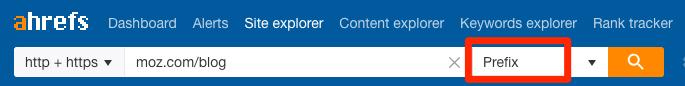 prefix mode site explorer