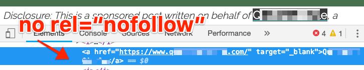 no rel nofollow