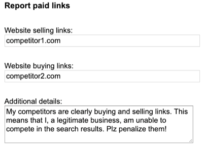 report paid links