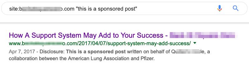 sponsored post google