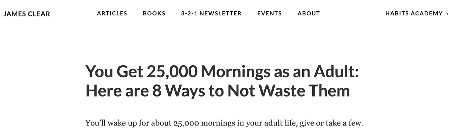 Morning Routine You Only Get 25 000 Mornings as an Adult Don t Waste Them
