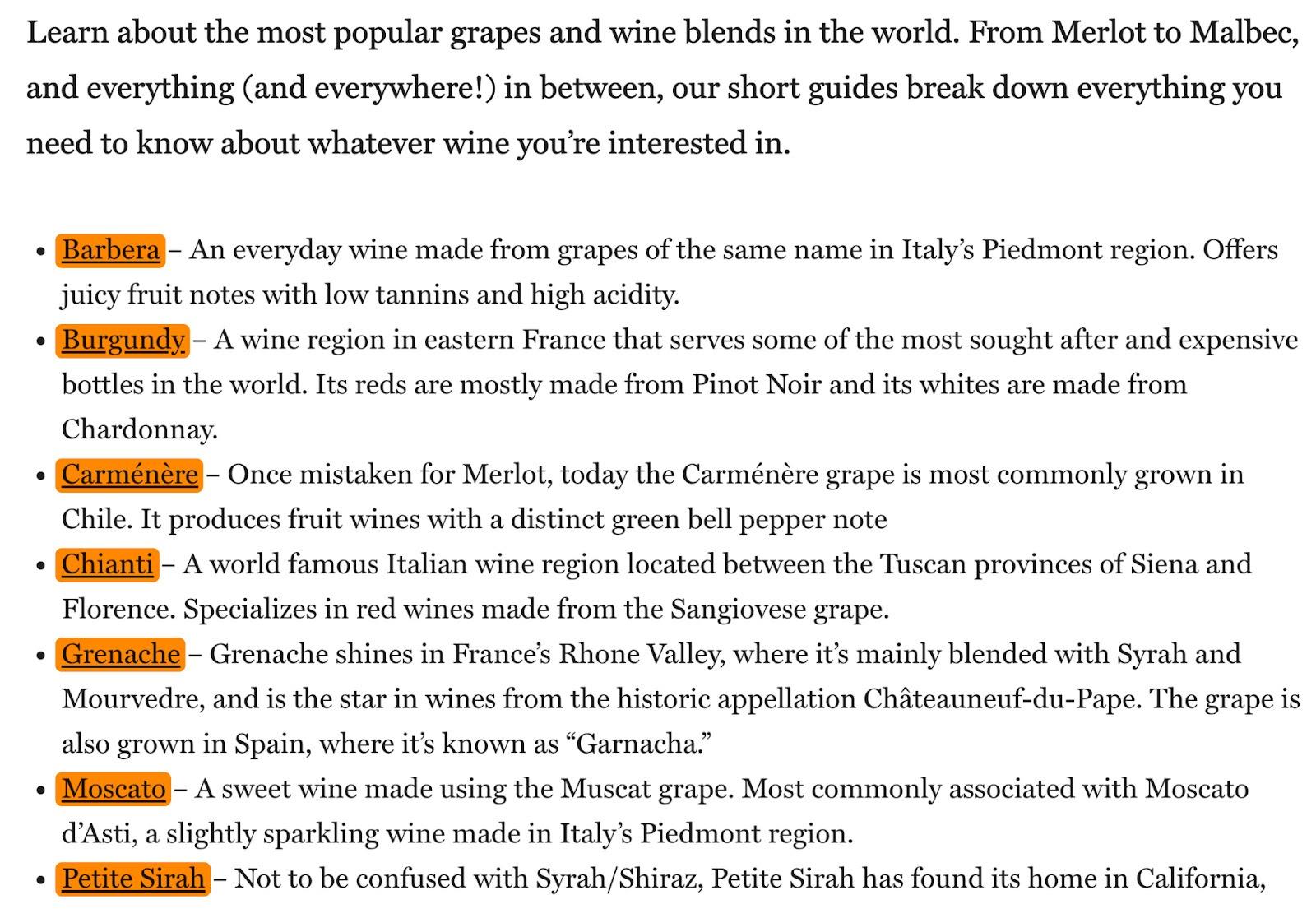 15 list of wines 1