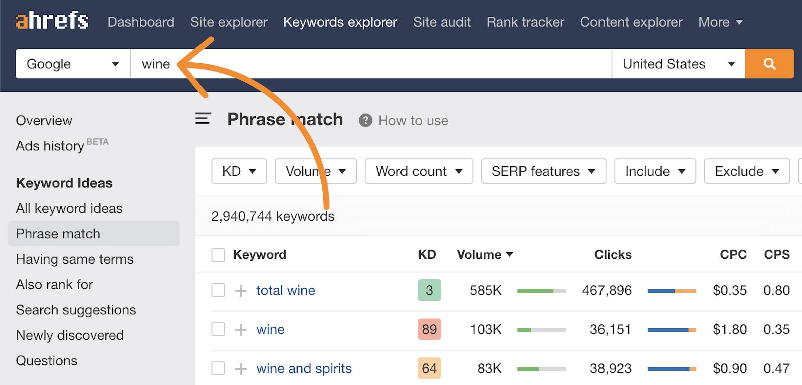 5 keywords explorer search hub page topic 1