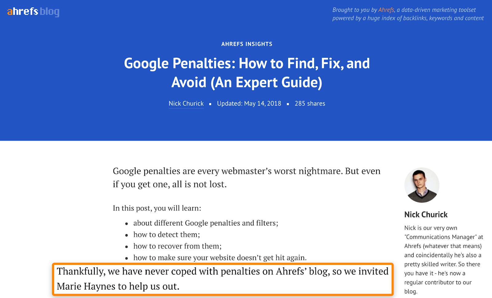 6 google penalties expert