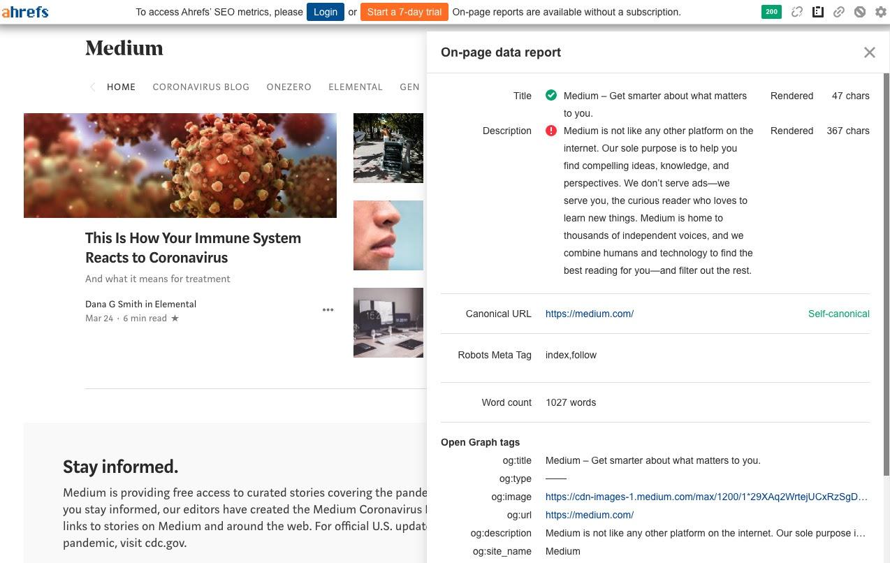 ahrefs seo toolbar