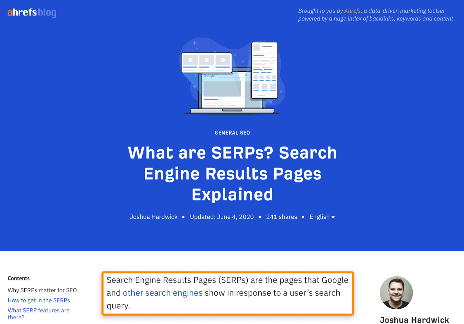 9 what are serps post