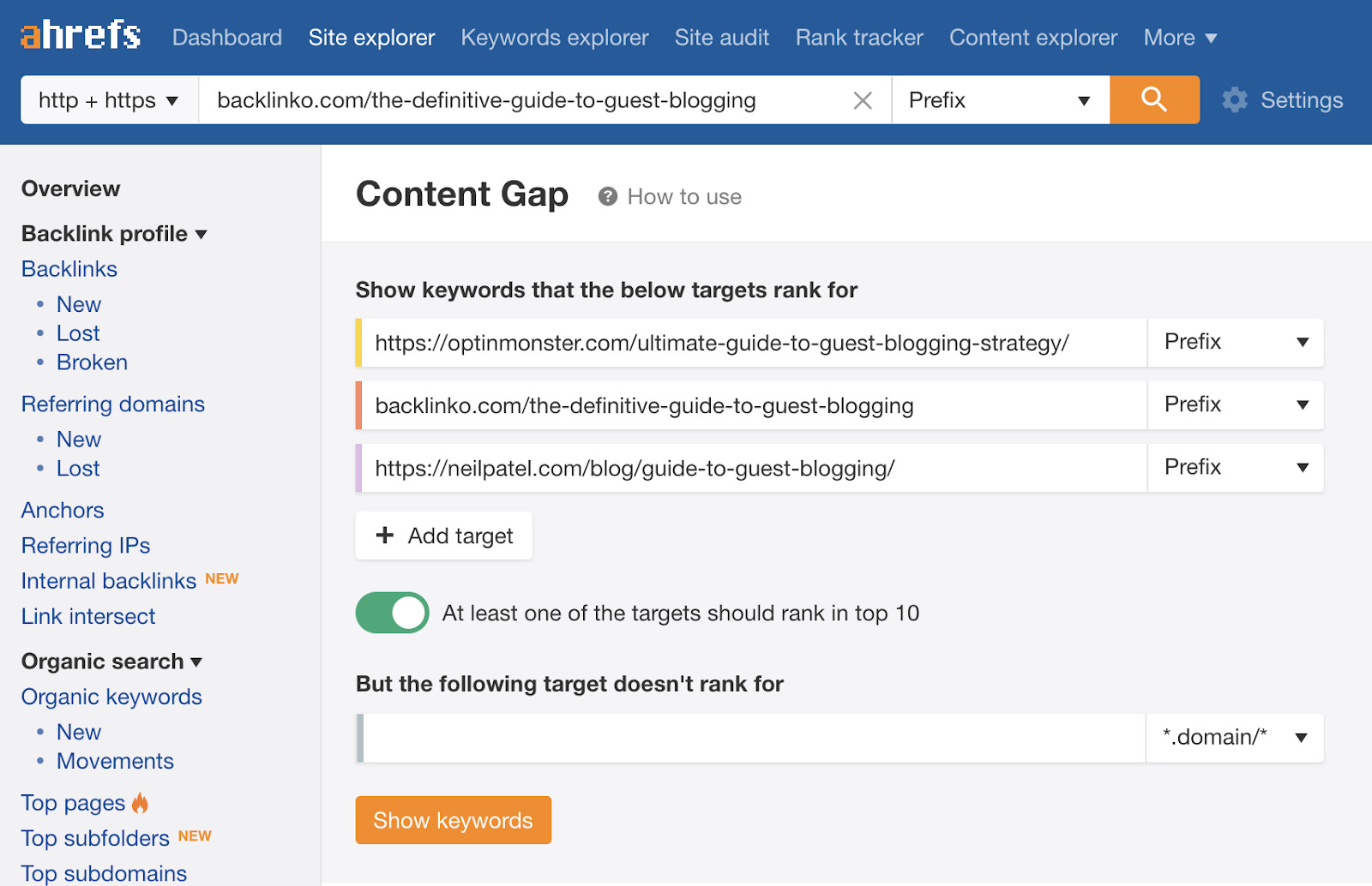 17 content gap