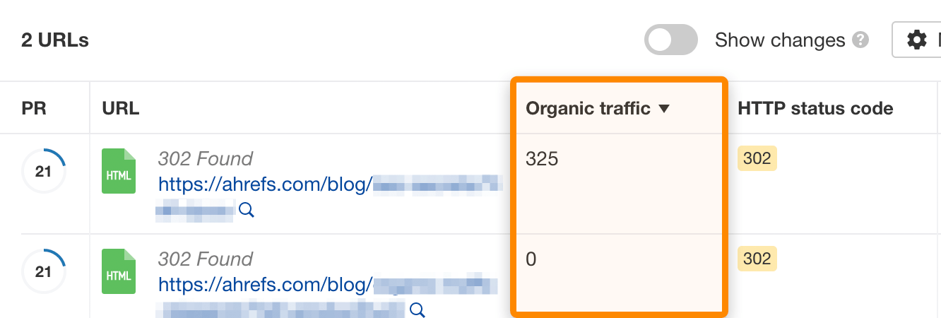 13 302 redirects with traffic