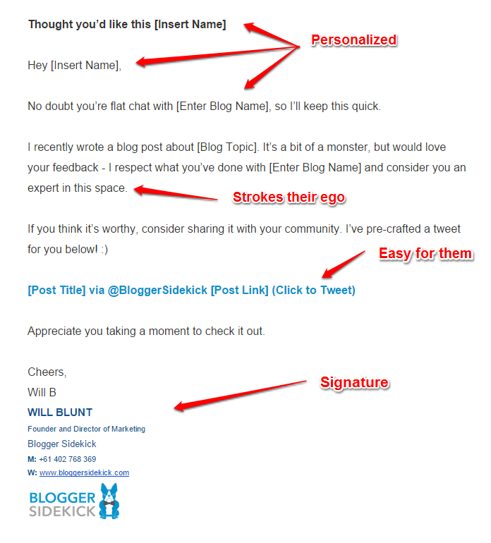 Will Blunt 2 email template