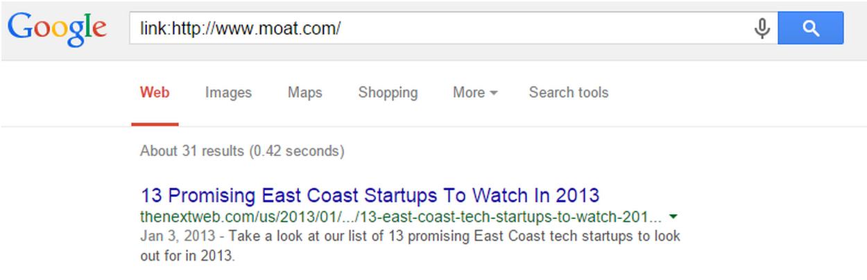 Các nhà khai thác Tìm kiếm Nâng cao của Google biết được nơi mà các đối thủ cạnh tranh của bạn đang nhận được các liên kết ngược của họ.  Đơn giản chỉ cần gõ