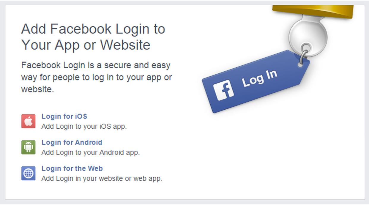 Khi Facebook cung cấp API của họ cho các nhà phát triển, các trang web bắt đầu tích hợp API đăng nhập của Facebook vào nền tảng của riêng họ.